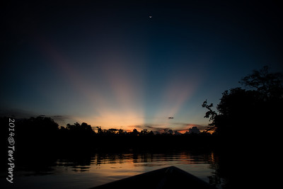 Amazing sunset rays of light