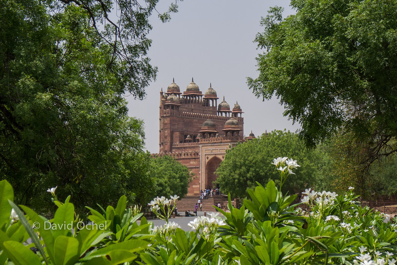 VIew of Jama Masjid and the Victory Gate from the palace of Jodh Bai.