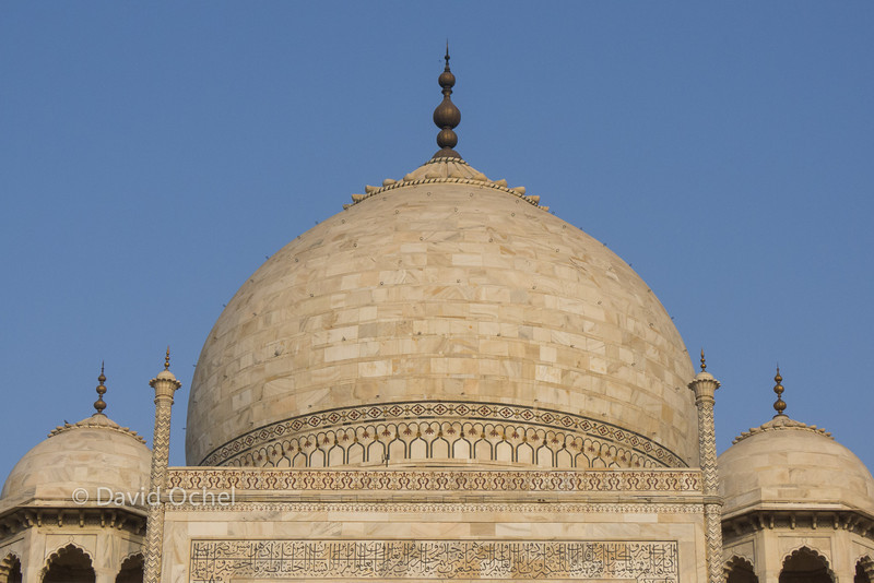 You can see the indiviudal marble plates that form the dome.