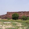 Agra Fort walls.