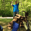 John was in charge of the firewood all weekend