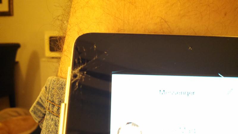Crud, dropped my ipad