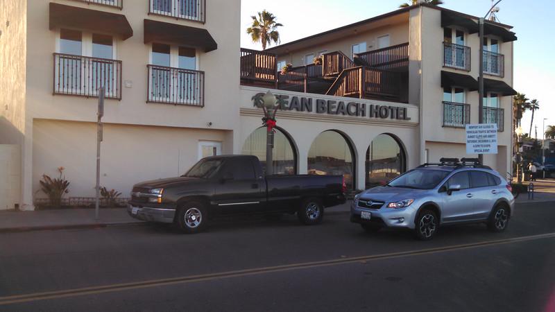 Ocean Beach Hotel, from across the street.