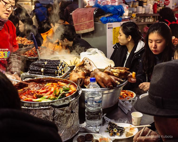Food Stalls at Jugyo-dong (Dongdaemun) Market - Seoul, 2014