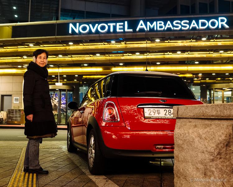 Novotal Ambassador Gangnam in Sinnonhyon - Seoul, Dec 28, 2014<br /> Approx. $150/night through hotels.com