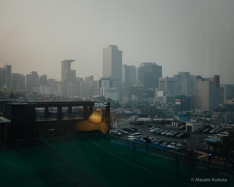 Sunrise view from Novotel - Seoul, Dec 30, 2014
