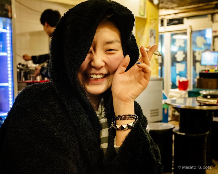 Sun Choi at after Midnight Dinner in Sinnonhyon - Seoul, Dec 30, 2014