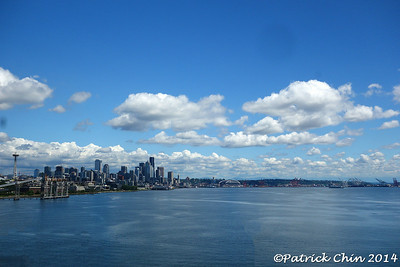 Seattle harbor skyline.