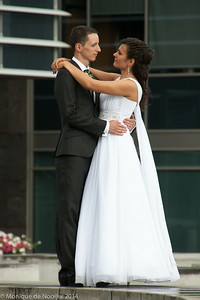 Taking wedding pictures in Vilnius.