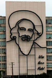 20140803 - A high-rise-sized rendition of Camilo Cienfuegos Gorriarán, hero of the Cuban revolution.