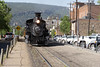 The coal fired steam train returning to Durango.  We went the next morning.   3.5 hours to Silverton; 3.5 hours back