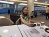 Lauren in Delta lounge in MSP
