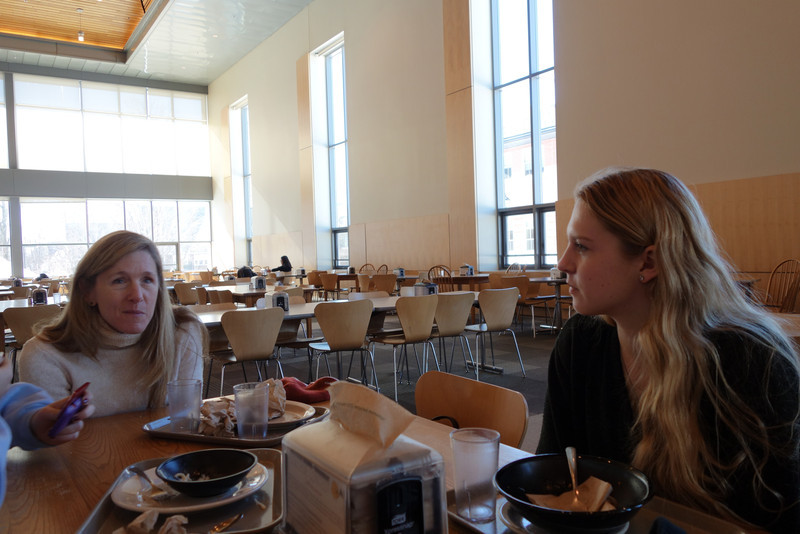 Bates: The dining hall also had great windows (and reasonably good food).