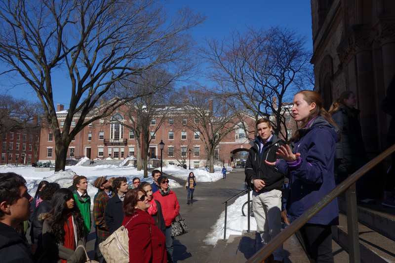Brown: This freshman was the best tour guide we had.  It was clear she loves Brown.