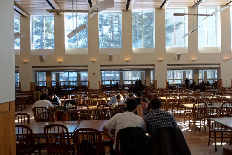 Bowdoin: The dining hall.  I loved the big windows.
