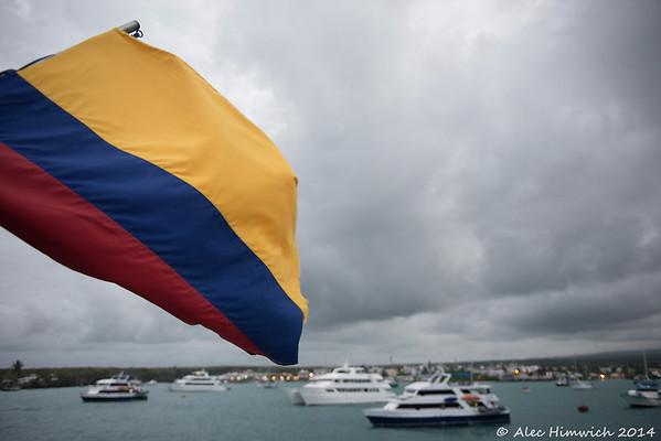 Anchored at Puerto Ayora