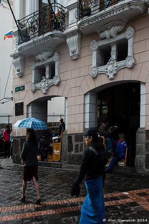 Street scene at the Hotel Plaza Grande