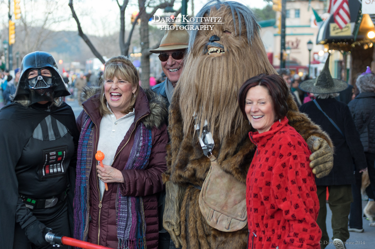 Almost looks like Harrison Ford next to the Wookie...