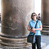 In front of one of the columns dating from about 120 AD.