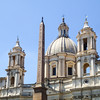 Piazza Navona and Sant'Agnese in Agone.<br /> The Obelisk of Domitian was brought to Rome by the Emperor Caracalla