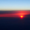 Sunrise on our flight to Rome