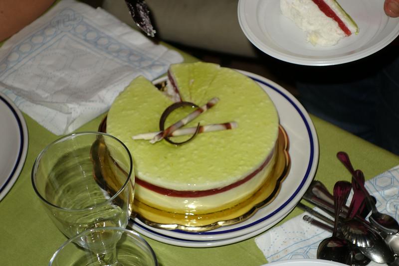 The amazing cake/pie desert we had in celebration of Giancarlo's birthday