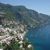 The town of Positano where we spent the afternoon