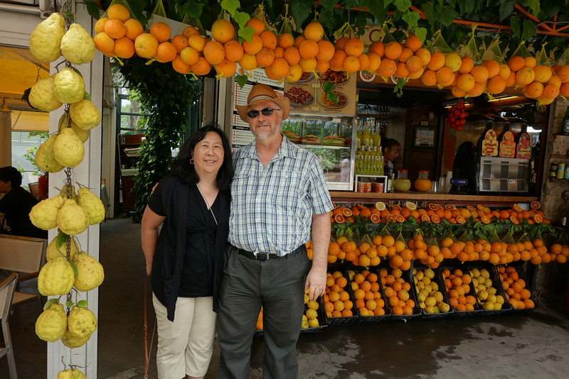 The fresh orange and lemon juice was very welcome after the hot walk through Pompeii