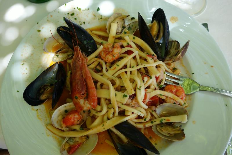 We had great food in Positano