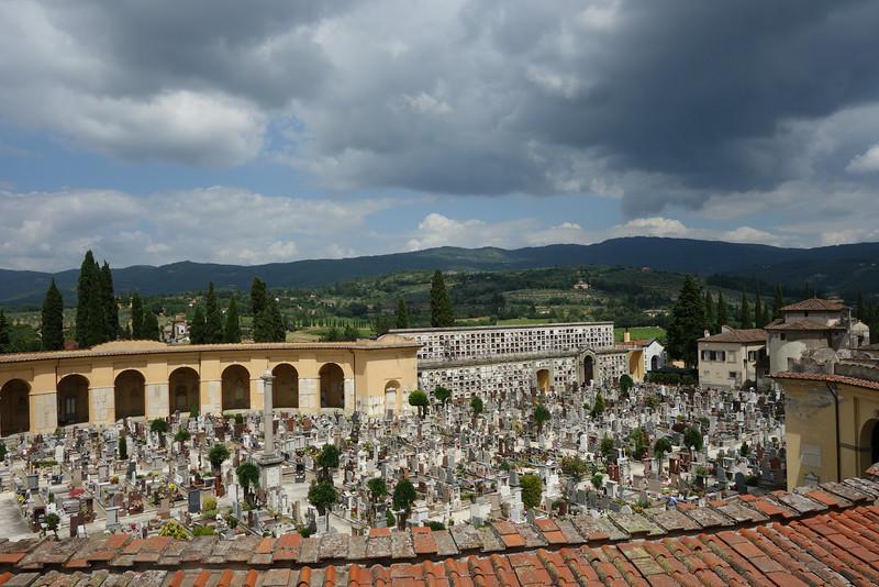 The Arezzo cemetery was pretty neat