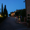 The grounds of our hotel at night