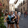 Walking through Montepulciano before lunch