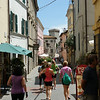 Walking through Castiglione del Lago to find lunch