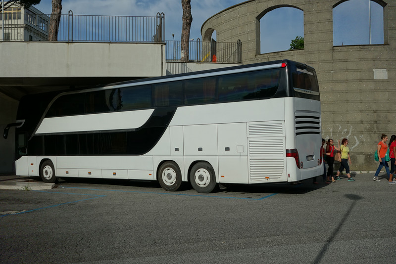 The Cantabile tour bus.   It was huge - two levels (75 seats) and room for luggage!