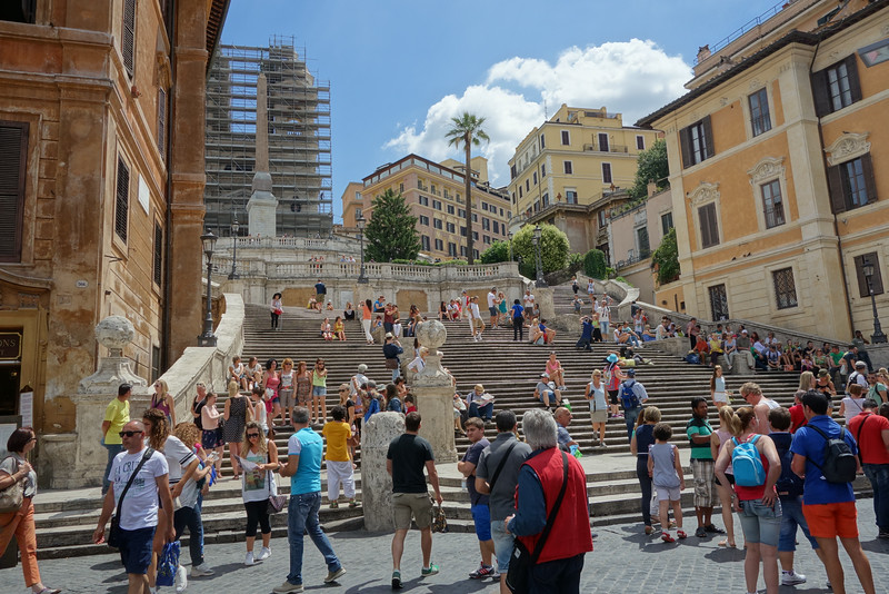 The famous Spanish steps