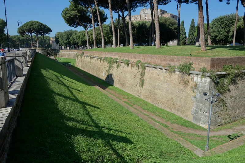 The moat around Castle St. Angelo.