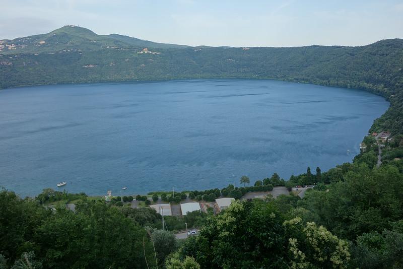 The lake near Castle Gandolfo (the Pope's summer retreat)