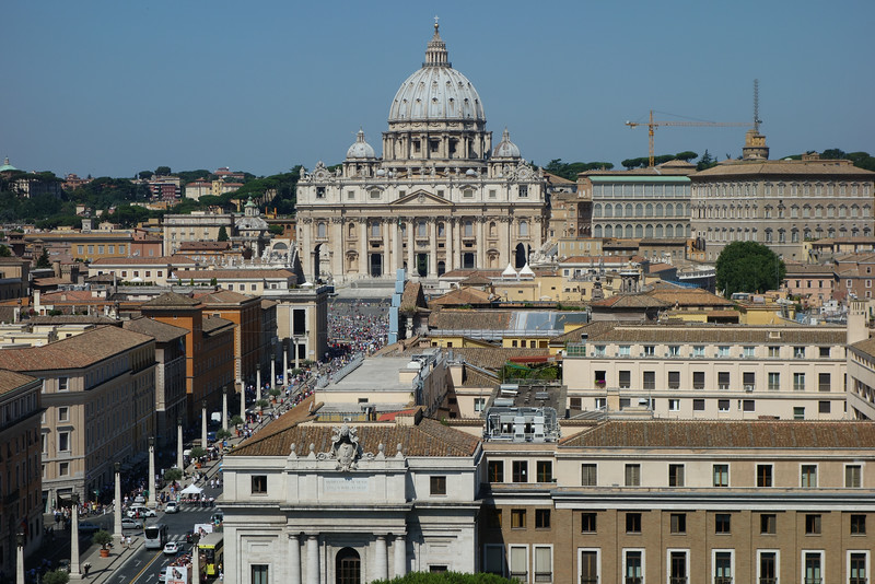 View of the vatican from the castle