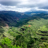 Waimea Canyon, clouds made for an interesting photo op.