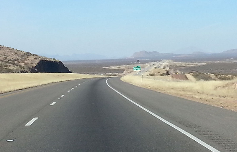Driving on I-10 somewhere west of Fort Stockton