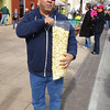 Buy a giant kettle corn, get a free lemonade.  What a deal!