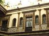 Café near the zocalo, mosaic tiled courtyard
