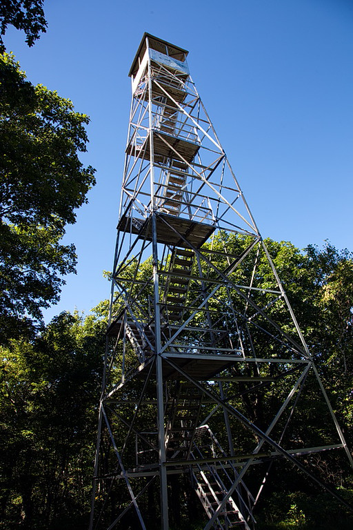 "252 The 60' tower stands in its third location since it was originally erected in 1928. It was decommissioned in 1987. Its history can be found here: <a href=""http://www.nhlr.org/NY_Towers/History_of_the_Beebe_Hill_Fire_Tower_%2810-5-09%29.pdf"">http://www.nhlr.org/NY_Towers/History_of_the_Beebe_Hill_Fire_Tower_%2810-5-09%29.pdf</a>"