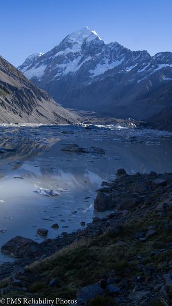 Aoraki / Mt. Cook Hooker Glacier termal lake