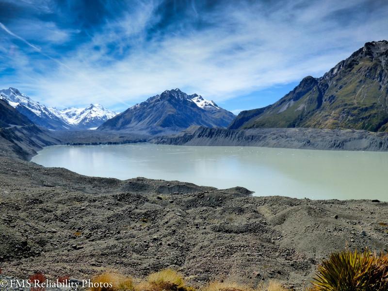 Tasman Glacier terminal lake