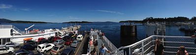 Taking the ferry to Salt Spring Island with Bethany and Andrew.