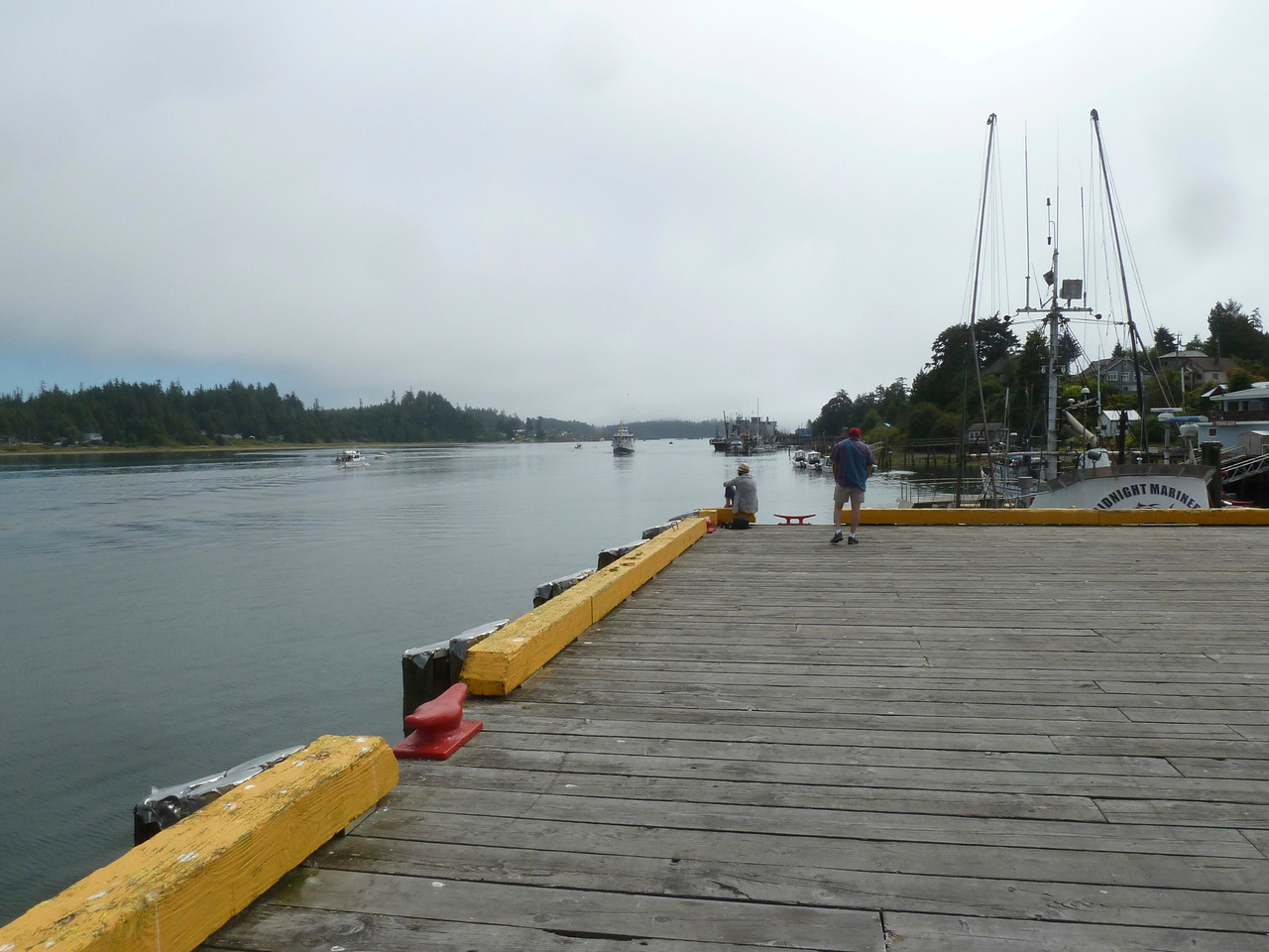 Waiting for our boat to Sechart Lodge in Uculet, Vancouver Island.
