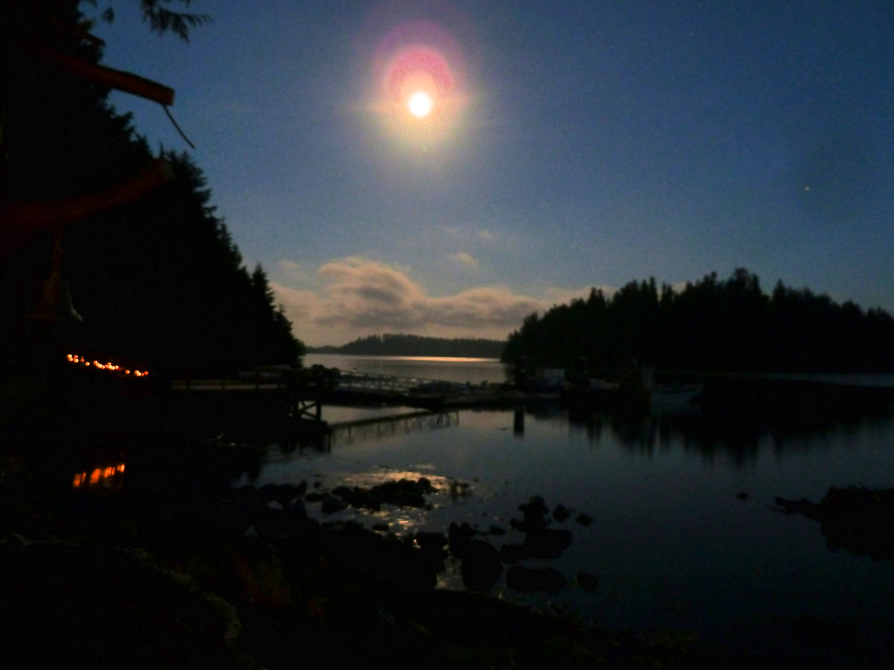 A spectaular super moon at Sechart Lodge.
