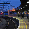 Passengers freeze at Connolly as 29018 comes off the wash road to work the 1637 to Rosslare. 020114