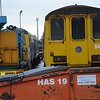 Awaiting their fate.....DEMU's 8089 & 8455 stand in Ballymena Yard withdrawn awaiting their fate. 89 arrived here on the 5th June 2011 and 455 arrived on the 31st March 2012. 190114